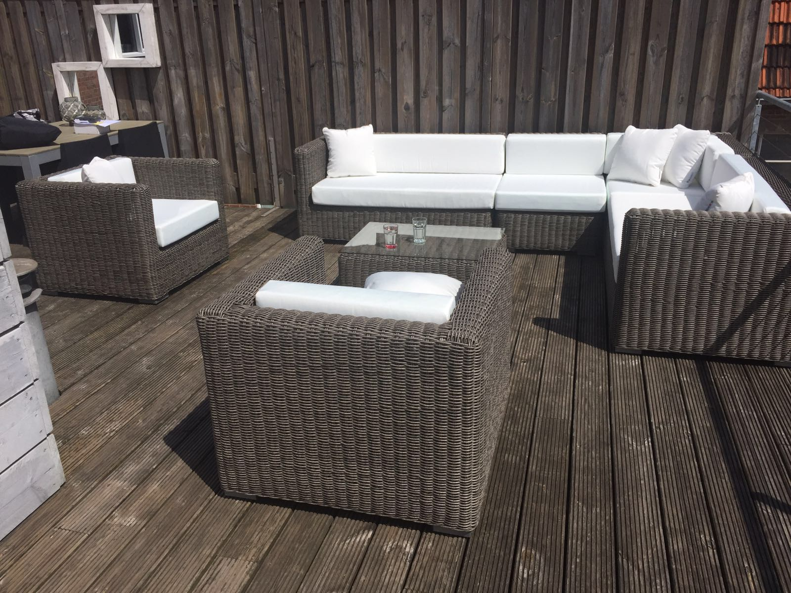 Wicker loungeset