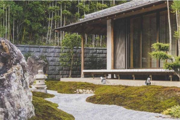 Afbeelding van een tuin met water