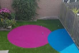 Gekleurd kunstgras